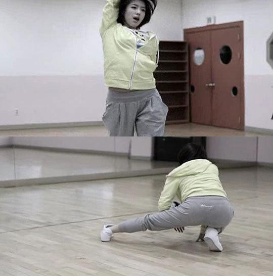 t-ara恩静穿运动服热舞 露丁字裤轮廓引热议