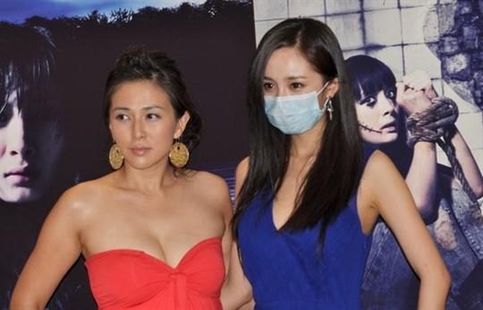 《孤岛惊魂》广州首映 杨幂与安雅比拼性感