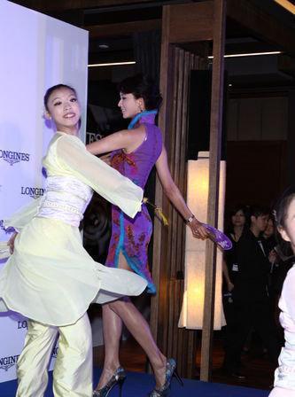 林志玲穿旗袍当贵妃跳舞