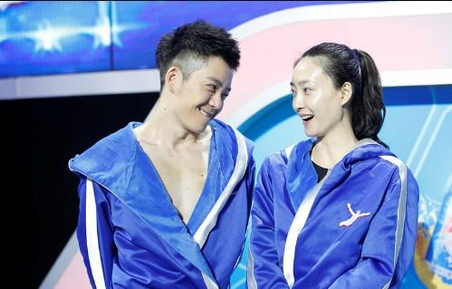 王丽坤素颜亮相跳水节目