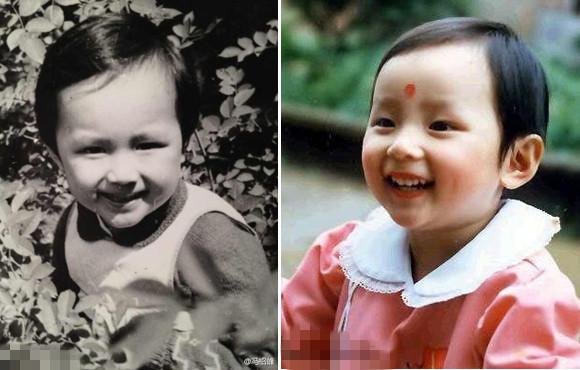 照片中冯绍峰清秀似女孩,其中还有一张竟神似