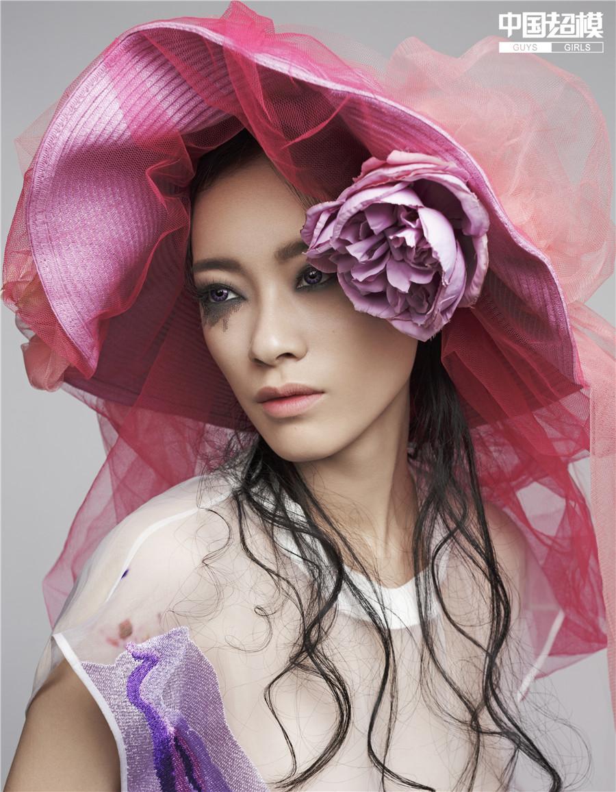 中国超模刘弦夏发型